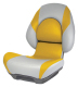 Centric II SAS Boat Seat with Lock-Down Button, Gray & Yellow - Attwood