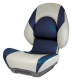 Centric II Boat Seat with Lock-Down Button, Tan & Blue - Attwood