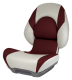 Centric II Boat Seat with Lock-Down Button, Tan & Burgundy - Attwood