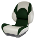Centric II SAS Boat Seat with Lock-Down Button, Tan & Green - Attwood