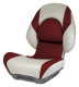 Centric II Boat Seat with Lock-Down Button, Tan & Red - Attwood
