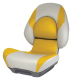 Centric II Boat Seat with Lock-Down Button, Tan & Yellow - Attwood