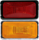 Sealed Rectangular Marker/Clearance Light, Amber with Chrome Base - Optronics