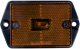 Rectangular Reflector Marker/Clearance Light, Amber - Optronics