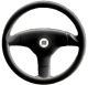 Uflex Antigua Steering Wheel, Black