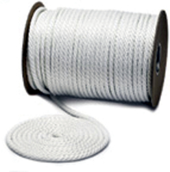 "Solid Braid Nylon Boat Rope, SB, 1/2""x250', White - Unicord"
