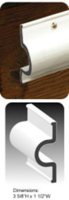 Dock Pro 25' Heavy Duty Vinyl Double Molded C-Shape Gard Dock Edging - Taylor Made