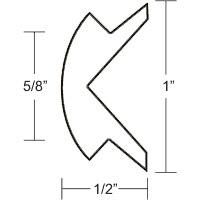 """1""""x1/2"""" White Prepacked Flexible Rub Rail Insert 50' - Taco"""