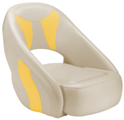 Avenir Sport Bucket Seat, Tan & Yellow - Attwood