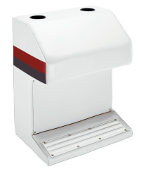 Deluxe Pontoon Captains Stand, White-Red-Charcoal - Wise Boat Seats