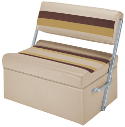 Deluxe Pontoon Flip Flop Seat, Sand-Chestnut-Gold - Wise Boat Seats