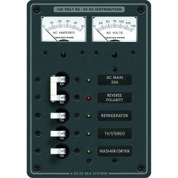 8409 Breaker Panel 120VAC 5 Position Main - Blue Sea Systems