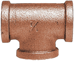 "Pipe Tee 1/4"" IPS, Bronze - Midland Marine"