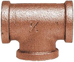 "Pipe Tee 3/8"" IPS, Bronze - Midland Marine"