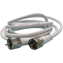 Coaxial Antenna Cable Assembly with Fittings, 10' - Seachoice