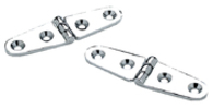 "Strap Hinge, 4"" x 1 1/8"" (10.16 x 2.86cm), Chrome Plated Brass - Seachoice"