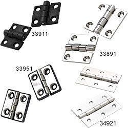"Extruded Butt Hinge, 1 5/8"" x 2 1/2"", Stainless Steel - Seachoice"