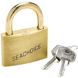 "Padlock Keyed Alike, Solid Brass, 1 1/4"" (3.1cm) - Seachoice"