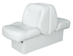 Bayliner Capri and Classic Back-to-Back Lounge Seat with Floor Base, White - Wise