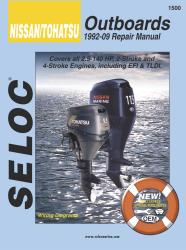 Nissan Tohatsu Outboards 2.5-140HP 1992-2009 Repair Manual All Engines - Seloc