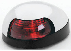 Red Quasar Sidelight, Chrome Housing with Black Base - Attwood
