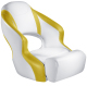 Aergo 240 Boat Bucket Seat with Bolster, Bright White & Yellow - Attwood