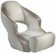 Aergo 240 Boat Bucket Seat with Bolster, Off-White & Beige - Attwood