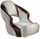 Aergo 240 Boat Bucket Seat with Bolster, Off-White & Burgundy - Attwood