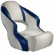 Aergo 240 Boat Bucket Seat with Bolster, Off-White & Blue - Attwood