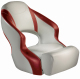 Aergo 240 Boat Bucket Seat with Bolster, Off-White & Red - Attwood