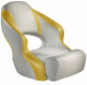 Aergo 240 Boat Bucket Seat with Bolster, Off-White & Yellow - Attwood