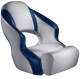 Aergo 240 Boat Bucket Seat with Bolster, Gray & Blue - Attwood