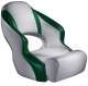 Aergo 240 Boat Bucket Seat with Bolster, Gray & Green - Attwood