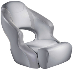 Aergo 240 Boat Bucket Seat with Bolster, Gray & Gray - Attwood