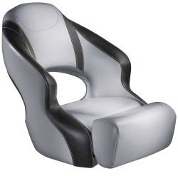Aergo 240 Boat Bucket Seat with Bolster, Gray & Smoke - Attwood