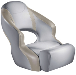 Aergo 240 Boat Bucket Seat with Bolster, Gray & Tan - Attwood