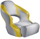 Aergo 240 Boat Bucket Seat with Bolster, Gray & Yellow - Attwood