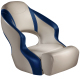 Aergo 240 Boat Bucket Seat with Bolster, Tan & Blue - Attwood