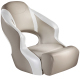 Aergo 240 Boat Bucket Seat with Bolster, Tan & Bright White - Attwood