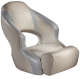 Aergo 240 Boat Bucket Seat with Bolster, Tan & Gray - Attwood