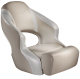 Aergo 240 Boat Bucket Seat with Bolster, Tan & Off-White - Attwood