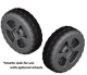 Heavy Duty Plastic Wheels, 1 Pair (Wheels Only) - Quality Mark