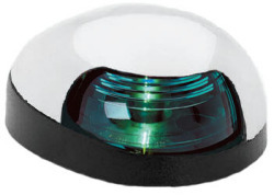 Green Quasar Sidelight, Chrome Housing with Black Base - Attwood