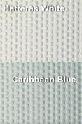 Coaming Bolster Pad Set (2), Hatteras White/Caribbean Blue - SeaDek