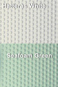 Coaming Bolster Pad Set (2), Hatteras White/Seafoam Green - SeaDek