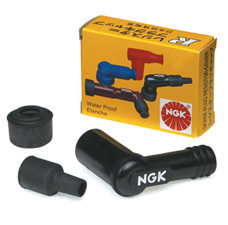Black NGK Resistor Spark Plug Cover