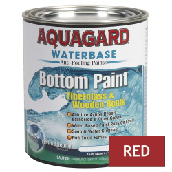 Aquagard Waterbased Anti-Fouling Bottom Paint - Quart - Red