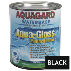 Aquagard Aqua Gloss Waterbased Enamel - Quart - Black