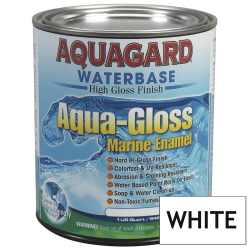 Aquagard Aqua Gloss Waterbased Enamel - Quart - White