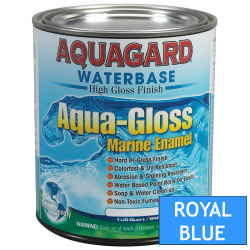 Aquagard Aqua Gloss Waterbased Enamel - Quart - Royal Blue